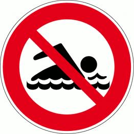 Pictogramme d'interdiction de baignade